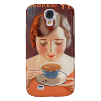 Vintage Woman Drinking Tea Painting Ad Galaxy S4 Covers