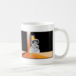 Vintage Woman Drinks on Days Coffee Mug