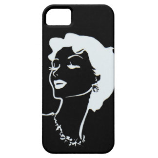 Vintage Woman Face Black and White French Graphic iPhone 5 Case