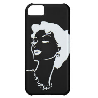 Vintage Woman Face Black and White French Graphic Cover For iPhone 5C