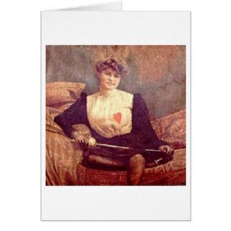 Vintage Woman Fencer Note Card