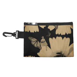 Vintage Woman Flower Butterfly Grunge Accessory Bags