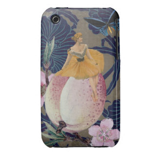 Vintage Woman Flower Collage II iPhone 3 Cover