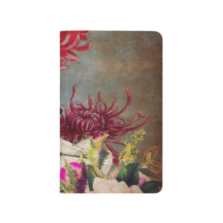 Vintage Woman Flower Collage Journal
