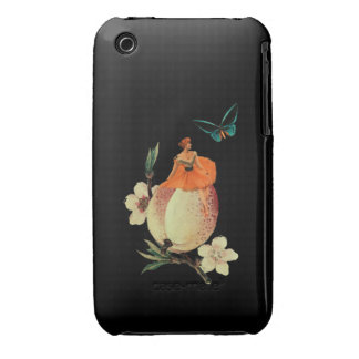 Vintage Woman Flower Dark Grunge iPhone 3 Cover