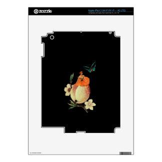 Vintage Woman Flower Dark Grunge Skin For iPad 3