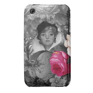 Vintage Woman Flower Garden Case-Mate iPhone 3 Cases