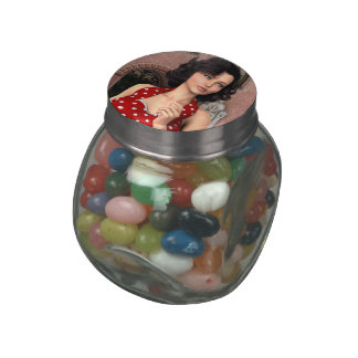 Vintage Woman Glass Jars