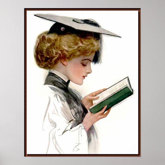 Vintage Woman Graduate Poster