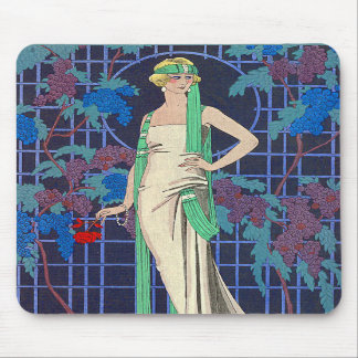 Vintage Woman in Arbor Mousepads