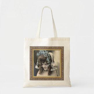 Vintage Woman in Bonnet Tote Bag
