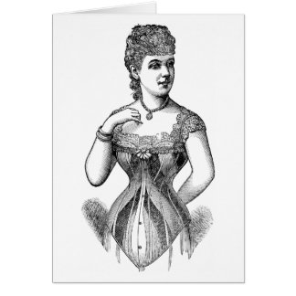 Vintage Woman in Corset Card