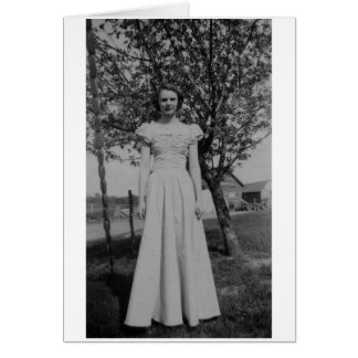 Vintage Woman In Formal Dress Photo Greeting Card