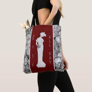 Vintage Woman in Roses Tote Bag