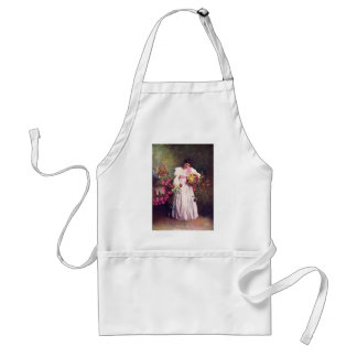 Vintage - Woman in the Garden Adult Apron