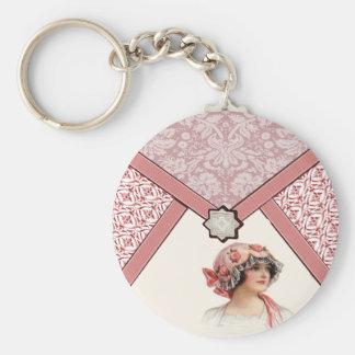 Vintage Woman Keychain