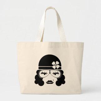 Vintage Woman Large Tote Bag