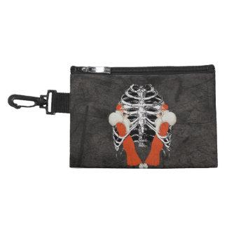 Vintage Woman Lips Ribcage Black Grunge Accessory Bag