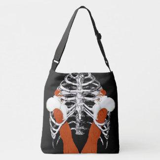 Vintage Woman Lips Ribcage Crossbody Bag