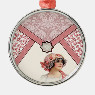 Vintage Woman Metal Ornament