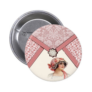 Vintage Woman Pinback Buttons