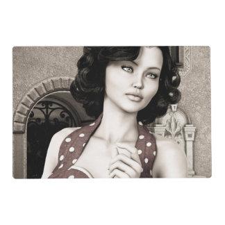 Vintage Woman Placemat