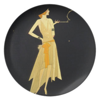Vintage Woman Plate