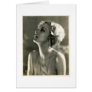 Vintage Woman Portrait Greeting Card