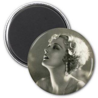 Vintage Woman Portrait Magnet
