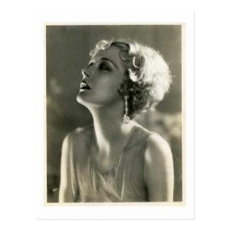 Vintage Woman Portrait Postcard