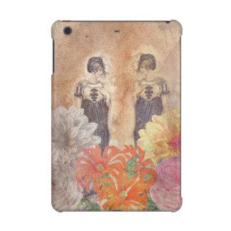 Vintage Woman Reflection Flowers iPad Mini Retina Covers