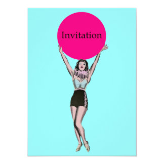 Vintage Woman - Retro Themed Invites