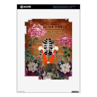 Vintage Woman Ribcage Floral Collage Decal For iPad 3