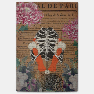 Vintage Woman Ribcage  Leopard Collage Post-it® Notes
