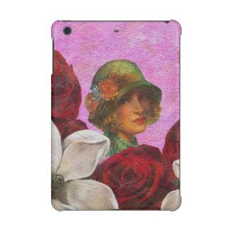 Vintage Woman Rose Flowers iPad Mini Case