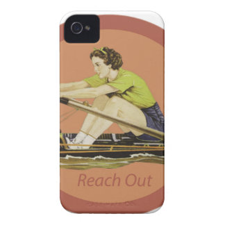 Vintage Woman Rower iPhone 4 Case