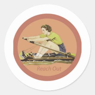 Vintage Woman Rower Sticker