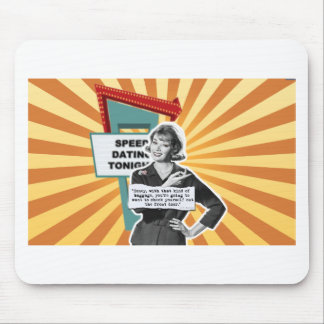 Vintage Woman Speed Dating Too Much Baggage Mouse Pad