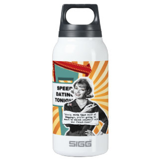 Vintage Woman Speed Dating Too Much Baggage Thermos Water Bottle