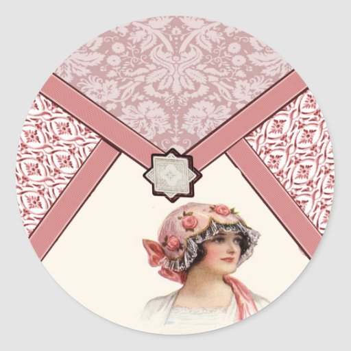 Vintage Woman Stickers