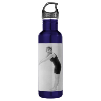 Vintage Woman Swimmer Water Bottle