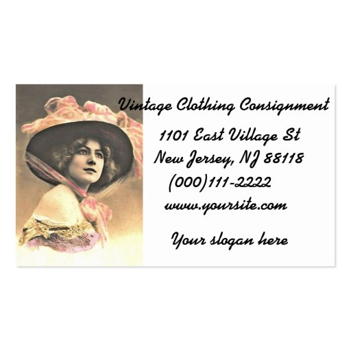 Vintage woman template business cards zazzle for Business cards for women