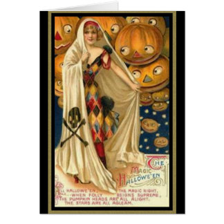 Vintage Woman with Cape Greeting Card
