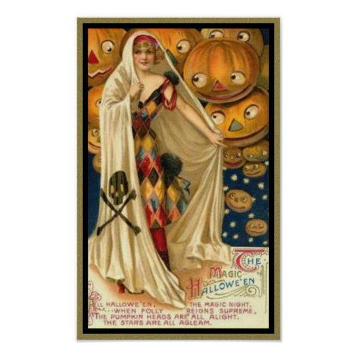 vintage woman poster attraction