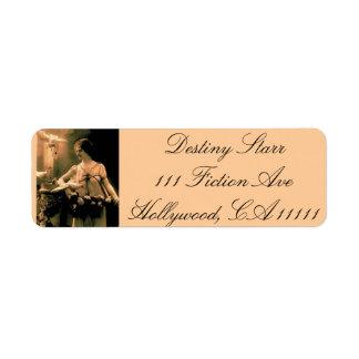 Vintage Woman With Doves Custom Return Address Labels