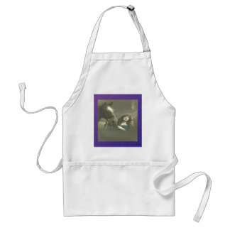 Vintage Woman With Her Horse Aprons