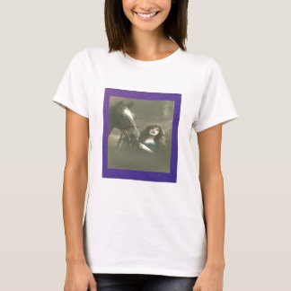 Vintage Woman With Her Horse T-Shirt