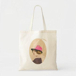 Vintage Woman Womens Hat Haute Couture Budget Tote Bag