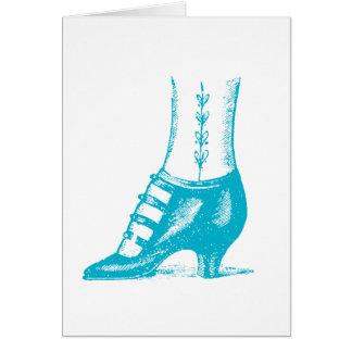 Vintage Woman's shoe Card