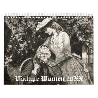 Vintage Women 20XX Calendar